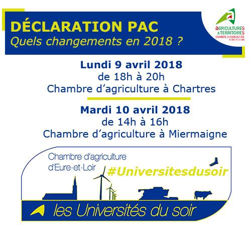 Universits Du Soir  Chambres DAgriculture CentreVal De Loire
